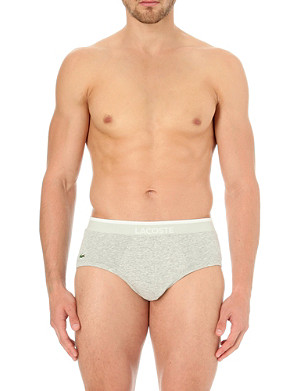 LACOSTE Pack of two stretch-cotton briefs
