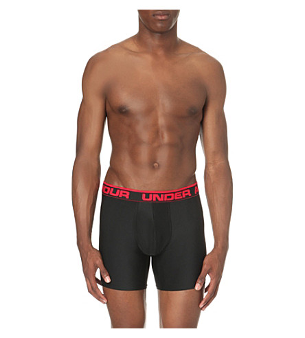 UNDER ARMOUR Original stretch-jersey boxer briefs (Black