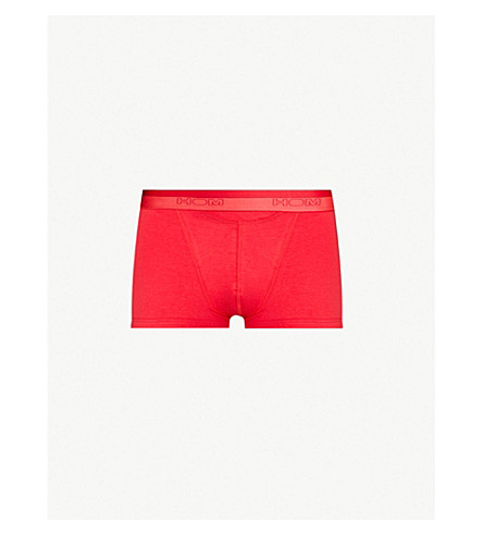 HOM Regular-fit stretch-cotton trunks (Red