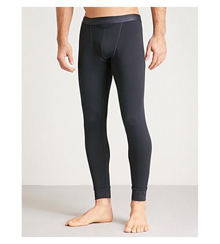 HOM HO1 stretch-cotton slim-fit leggings (Navy