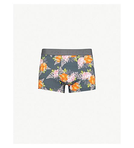 HOM Floral-pattern stretch-cotton trunks (Grey orange