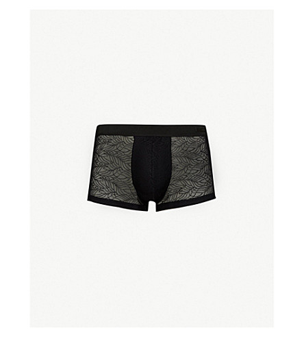 HOM Slim-fit lace trunks (Black