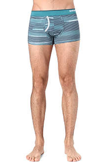 DIESEL Fine stripe print trunks