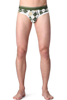 DIESEL Stretch-cotton Peace briefs