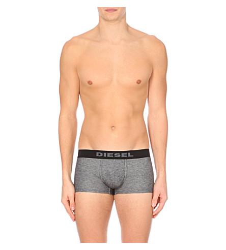DIESEL Hero denim-effect stretch-cotton trunks (Black