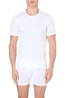 HUGO BOSS Pack of three plain cotton t-shirts