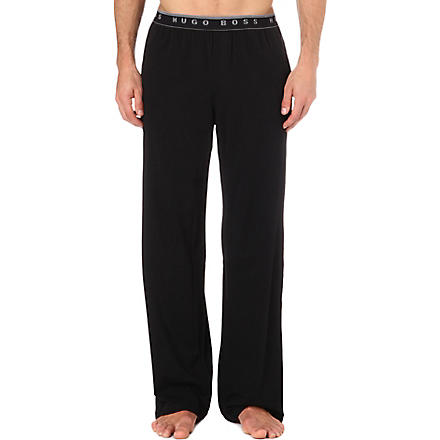 HUGO BOSS Stretch-cotton pyjama trousers (Black