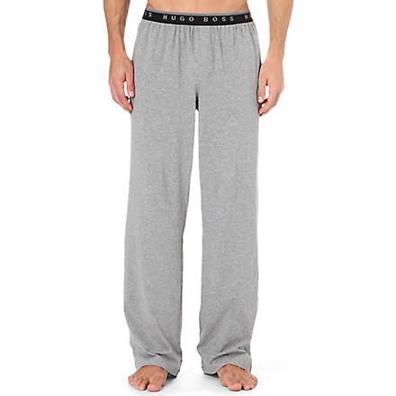 HUGO BOSS Stretch-cotton pyjama trousers (Grey