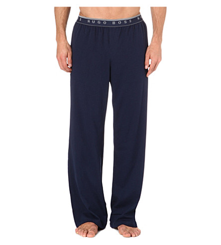 HUGO BOSS Stretch-cotton pyjama trousers (Navy
