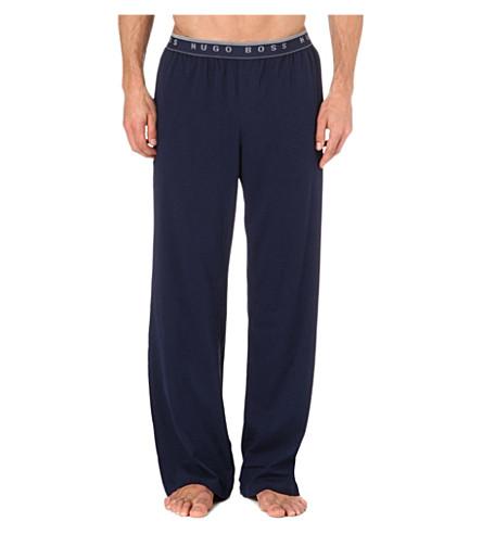 HUGO BOSS Stretch-cotton pyjama trousers (Navy