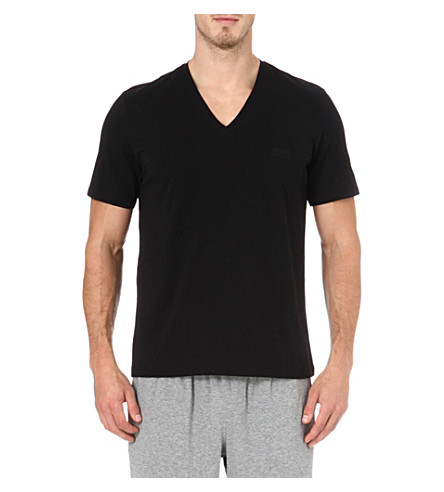 HUGO BOSS V-neck t-shirt (Black
