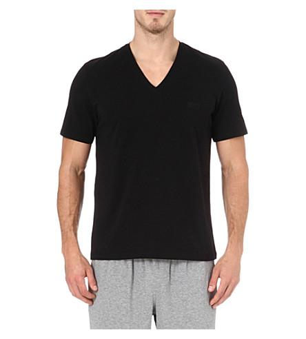 HUGO BOSS V-neck t-shirt (Black