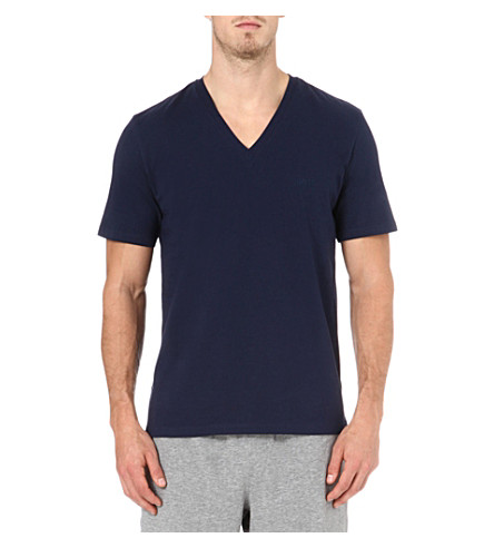 HUGO BOSS V-neck t-shirt (Navy