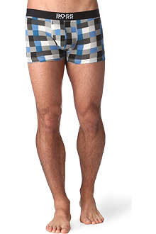 HUGO BOSS Graphic check trunks
