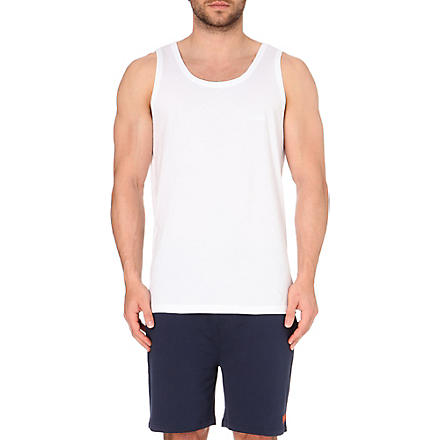 HUGO BOSS Pack of three cotton-jersey vests (White