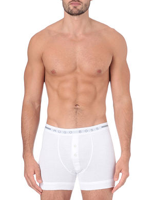 HUGO BOSS Cotton button-fly trunks