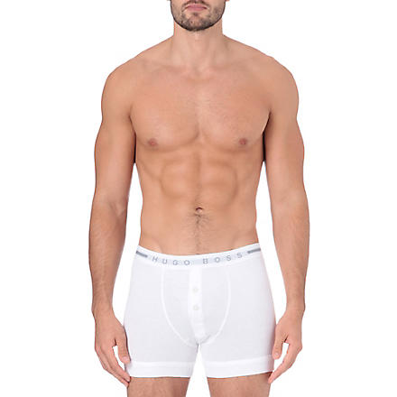 HUGO BOSS Cotton button-fly trunks (White