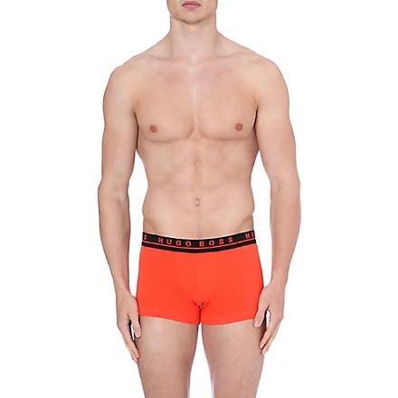 HUGO BOSS Three pack of stretch-cotton trunks (Orange/dk grey/blue