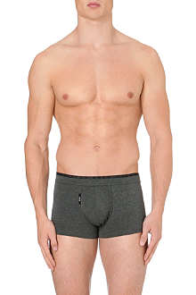 HUGO BOSS Two-toned stretch-cotton trunks