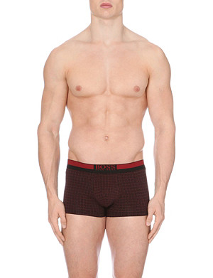 HUGO BOSS Geo-print stretch-cotton trunks
