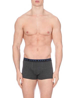 HUGO BOSS Logo waistband trunks pack of two