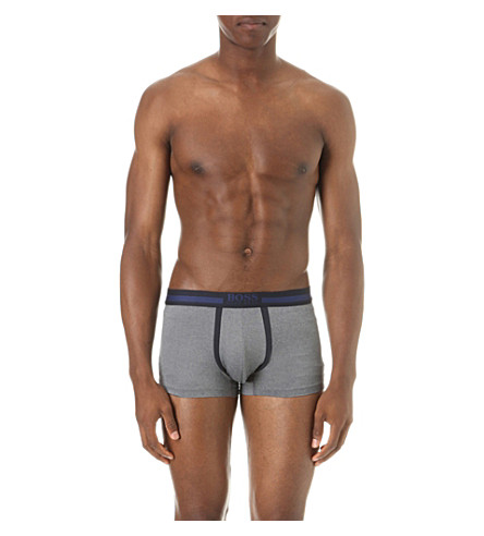 HUGO BOSS Coolmax stretch-cotton trunks (Blue