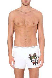 D SQUARED Ho Ho Ho dog print boxers