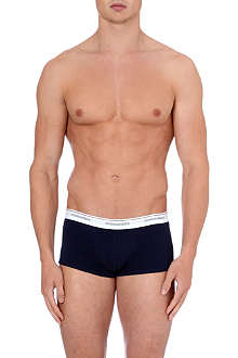 D SQUARED Logo-waistband stretch-cotton trunks