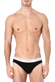 D SQUARED Pack of two ribbed stretch-cotton briefs