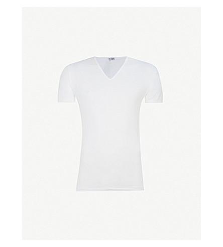 ZIMMERLI Pure comfort v-neck t-shirt (White