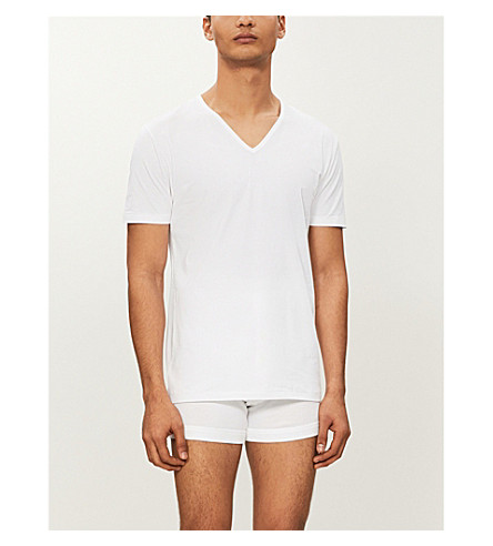 ZIMMERLI Pure comfort v–neck t–shirt (White