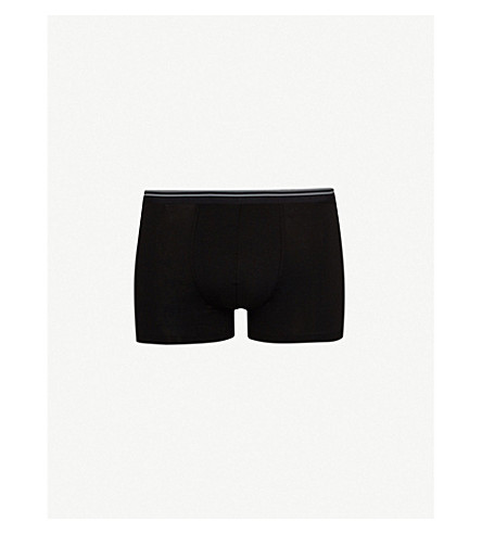 ZIMMERLI Pure Comfort classic-fit stretch-cotton trunks (Black