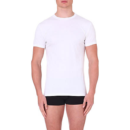 ZIMMERLI Short-sleeved jersey t-shirt (White