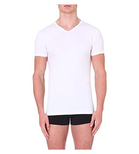 ZIMMERLI Short-sleeved jersey t-shirt (White