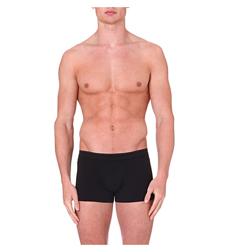 ZIMMERLI Cotton-blend trunks (Black
