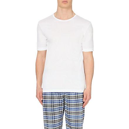 ZIMMERLI Crew neck cotton t-shirt (White