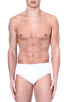 ZIMMERLI Royal classic open fly cotton briefs