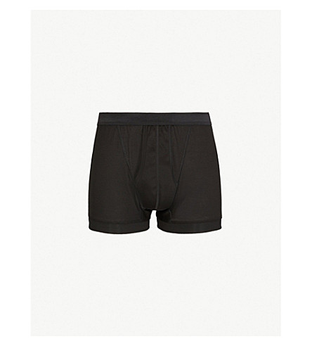 ZIMMERLI Royal classic-fit cotton boxers (Black
