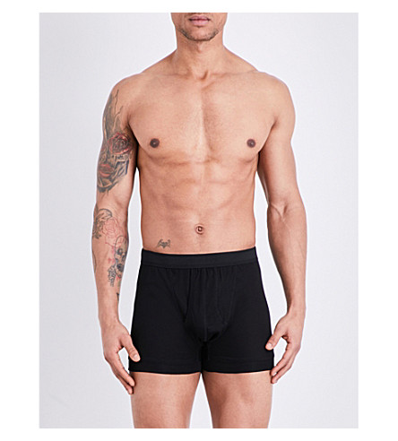 ZIMMERLI Royal classic cotton boxers (Black