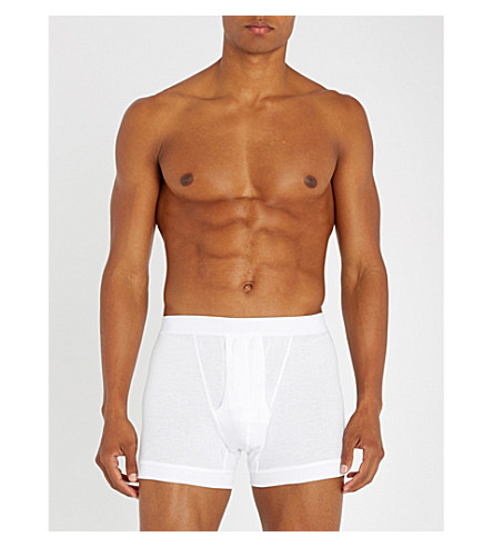 ZIMMERLI Royal classic cotton boxer briefs (Whit: white