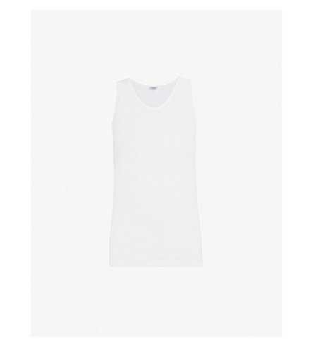 ZIMMERLI 252 Royal Classic cotton vest (Whit:+white