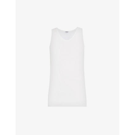 ZIMMERLI Cotton vest (Whit: white