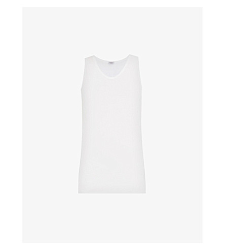 ZIMMERLI Relaxed-fit cotton vest (Whit:+white