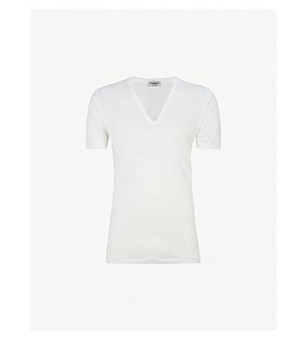 ZIMMERLI Deep v-neck t-shirt (White