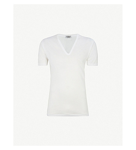 ZIMMERLI Deep v-neck t-shirt (White