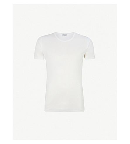 ZIMMERLI 船员颈部棉 T 恤 (白色