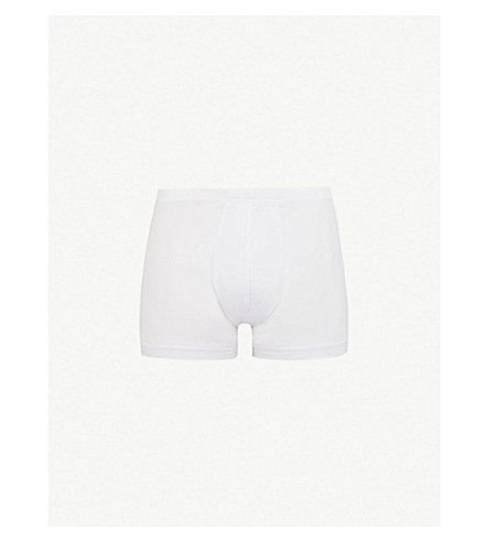 ZIMMERLI Slim-fit stretch-cotton trunks (White