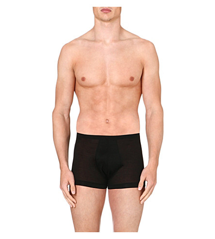 ZIMMERLI Cotton trunks (Black