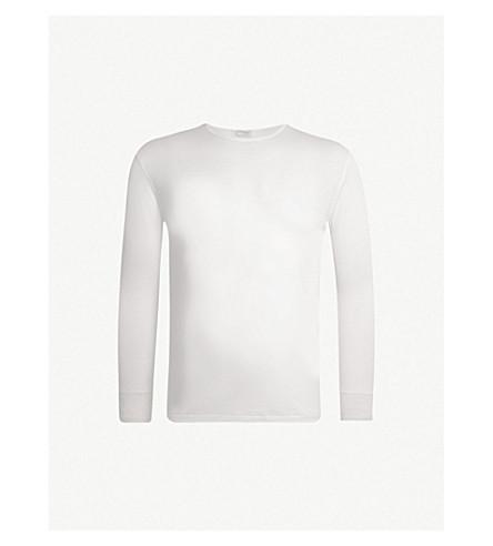 ZIMMERLI 圆领羊毛和丝混纺睡衣上衣 (本色