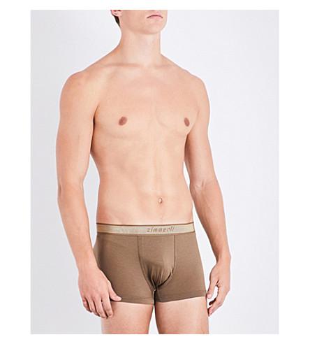 ZIMMERLI Melange jersey trunks (Dk+sand
